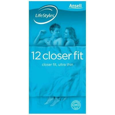 Ansell LifeStyles Condoms Closer Fit Ultra Thin 12 Pack