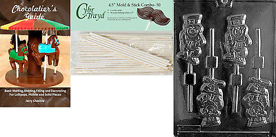 Cybrtrayd 'Leprechaun Lolly' Patriotic Chocolate Candy Mould with 50 11cm