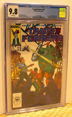 MARVEL TRANSFORMERS 14 CGC 9.8 WP *1st AUTOBOTS* ADD 3+ SLABS NO EXTRA SHIP COST