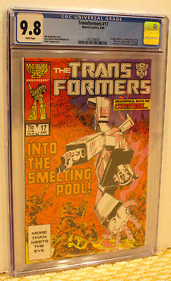 MARVEL TRANSFORMERS 17 CGC 9.8 WP *1st BLASTER+* ADD 3+ SLABS NO EXTRA SHIP COST