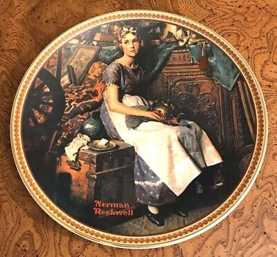 """Norman Rockwell's Rediscovered Women """"Dreaming in the Attic"""" Collectors Plate"""