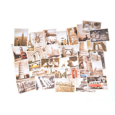 32pcs Travel Postcard Vintage Landscape Photo Picture Poster Post Cards Gift El