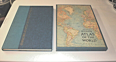 Vintage 1963 National Geographic Atlas of the World with Slipcase