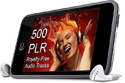 500  ;-)  Royalty-Free Music Audio Tracks - Get PLR Rights+Unrestricted Use  *