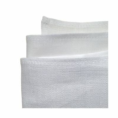 100% White Linen Handmade Pocket Square Handkerchief in Perfect Suit Size 1-PACK