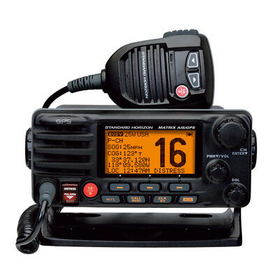 Standard Horizon Matrix Fixed Mount VHF w/AIS  GPS - Class D DSC - 30W - Black