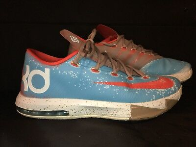 new style 28f26 6ebc2 Nike KD 6 VI Maryland Blue Crab size 11.5 599424-400 Kevin Durant
