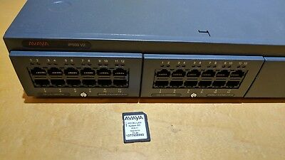 Working Avaya IP Office 500 V2 w/ two comb Cards & System SD