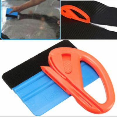 Safety Sticker Cutter Car Wrapping Tools Auto Scraper Felt Edge Squeegee