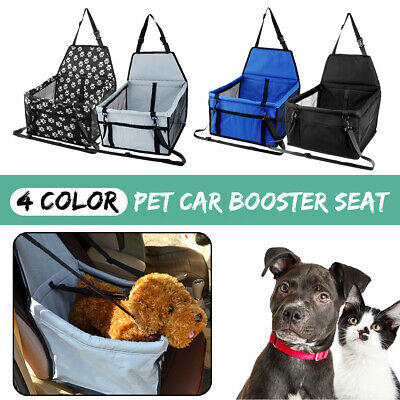 Portable Booster Car Seat Basket Puppy Booster Travel Box Bag Dog Cat Pet Safe