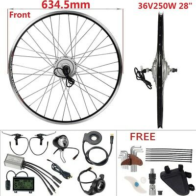 "Retrofit Kit 36V250W 700C 28"" Front Motor E-Bike Hub Conversion Kit+LCD Display"
