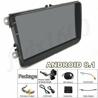 """9"""" 2 DIN Auto Radio GPS Stereo Player Android 8.1 4-Core For German Car Vehicles"""