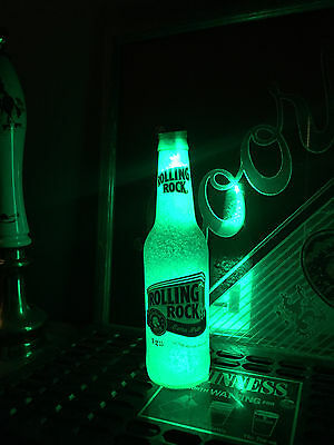 Rolling Rock Beer 12 oz Bottle Light LED Pub Bar Pool Man Cave Neon Sign