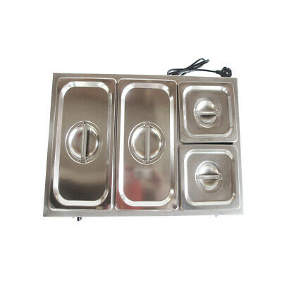 Electric Commercial Stainless Steel Bain Marie With 4 Pans & Lids High Quality 1