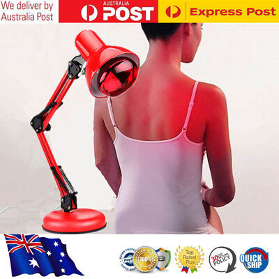 AU Infrared Red Heat Light Therapeutic Therapy Lamp Pain Relief Floor Stand 100W