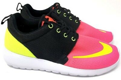 4b1e1f0e8a7f NEW Youth Nike ROSHE ONE FB sz 6Y BLACK PINK VOLT WHITE Running Shoes  Sneakers