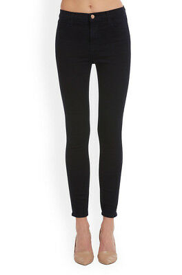 J Brand Womens Alana 8428V080 Trousers Cropped Zip Skinny Fit Black Size 25W
