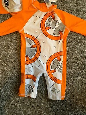 Baby Boys  M&s Star Wars Uv Sunsafe -Swimsuit Set Age 6 -9 Months  New
