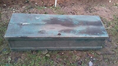 vintage pine old wooden tool box/chest