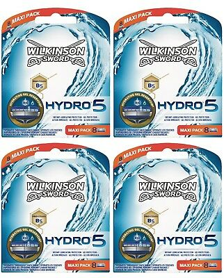 Wilkinson Sword Hydro 5 Razor Blades 4 x 8 Packs Mens Shaving Genuine 32 Refills