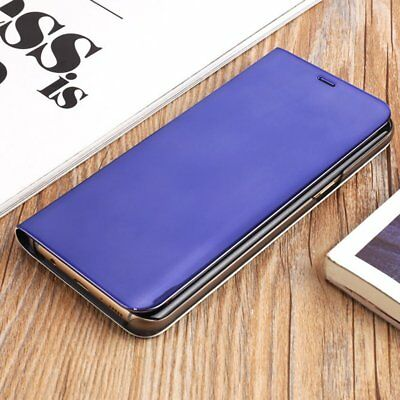 Newest Electroplated Smart Mirror Stand Case Mobile Phone Shell Flip Cover AZ