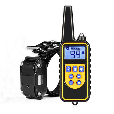 Pets Dogs Training Collar Rechargeable Anti-Bark Collar Trainer Shock/Beep LCD