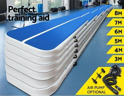 3/4/5/6/7M Airtrack Inflatable Air Track Floor Home Gymnastics Tumbling Mat GYM