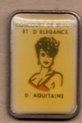 pin's pin up femme concours miss aquitaine