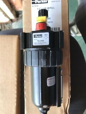 PARKER Air Line Lubricator,1/2In,90 cfm,250 psi, 16L34BE new old stock