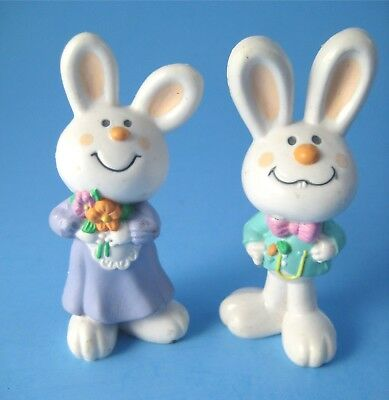 Hallmark Merry Miniatures Barnaby and Bernadette Easter Rabbits 1985