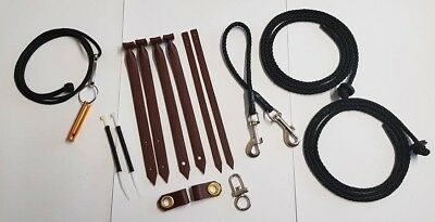 Falconry Starter Kit - Premium Quality - Anklets Jesses Swivel Leashes Clips etc