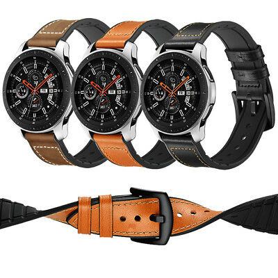 Replacement Soft Silicone Leather Strap Watch Band For Samsung Gear S3 20mm 22mm