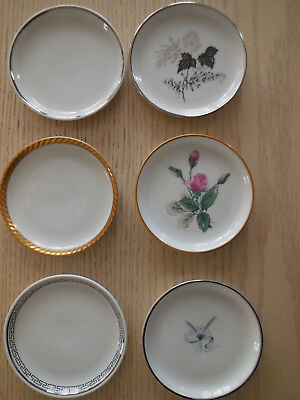 "Lot of 6 Stonegate Germany Bavarian 3 1/2"" Butter Pats, Coasters, Vintage"