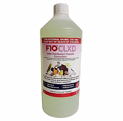 1 Litre - F10 CLXD Avian Disinfectant Cleanser - Bird Safe Cleaner PBFD - NTO