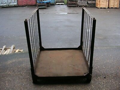 Metal Stillage, Steel Pallet, Stackable Storage Container, collapsible.