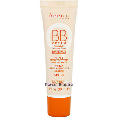 Rimmel BB CREAM Radiance 9 in 1 Beauty Balm Skin Perfecting Makeup Very Light