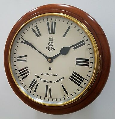 "A Rare 12"" Edward VII Public Buildings Single Fusee wall clock - GWO."