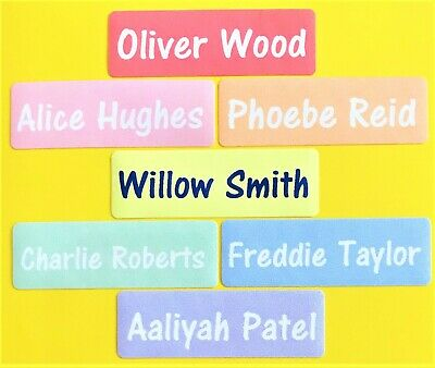 Iron on name tags/ name labels in full colour - Rainbow Labels