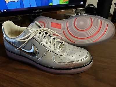 Nike Air Force 1 Downtown Size 12 RARE Silver Metallic