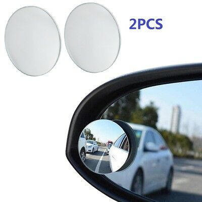 2pcs 360 Degree Car Rearview Blind Spot Side Rear View Mirror Convex Wide Angle