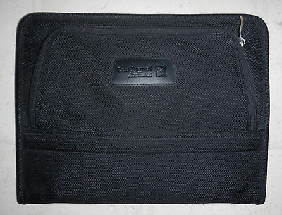 United Continental Airlines Logo Leeds Zippered Padfolio Notebook Organizer