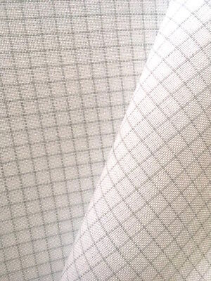 Zweigart White Easy Count 28 count Brittney evenweave 50 x138 cm with grid lines