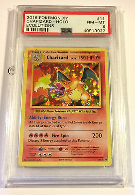 Pokemon CHARIZARD 11/108 PSA 8 MINT/Near Mint Rare Holo Reverse XY Evolutions
