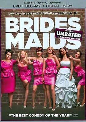 Bridesmaids (Blu-ray/DVD, 2011, 2-Disc Set, Unrated/Rated Includes Digital Copy…