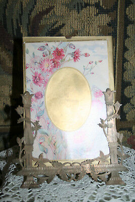 Rare Collectable Antique French Small Menu/Photo Holder.