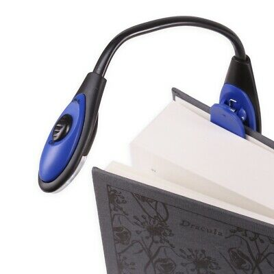 2x EXTRA BRIGHT CLIP ON READING LED LAMP Torch Light Book Travel Camping Battery