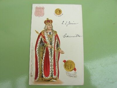 Cpa Kings And Queens Of England  Serie 615 Henry Vii