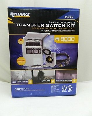 Reliance Back-Up Power 6-Circuit Complete Transfer Switch Kit 306LRK