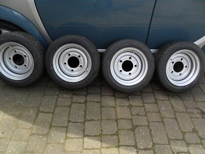 4 X Wheels & Tyres 195/ 50/ R13C Suitable For Ifor Williams, Bateson & Indespens