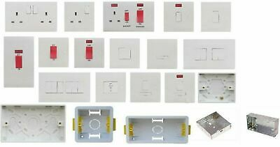 White Plug Socket Switch Spur Cooker DP Switch Back Box Pattress Dry Lining